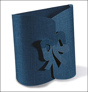 Schachtel - Fiocco - Dekor Juta Blu