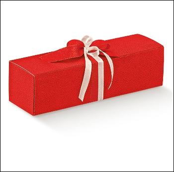 Flaschenkarton - Dekor Pelle Rosso
