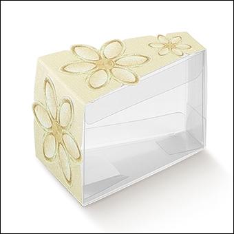 Schachtel Törtchen - Fetta Torta - Dekor Fiore Ricamato