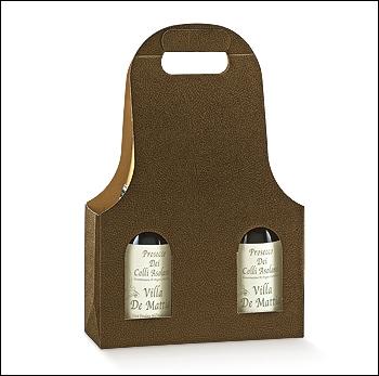 Flaschenkarton - Dekor Pelle Marrone
