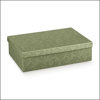 Schachtel mit Deckel - F/C-dp - Dekor Damascato Verde