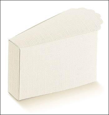 Schachtel Törtchen - Fetta Torta - Dekor Seta Bianco