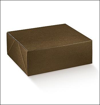 Schachtel - Boite - Dekor Pelle Marrone
