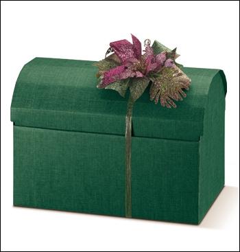 Schachtel Truhe - Cofanetto - Dekor Seta Verde