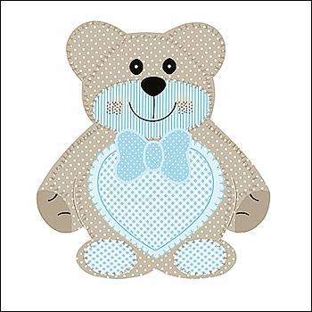 Bär - Orsetto Segnaposto - Dekor Teddy Bear Azzurro