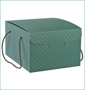 Schachtel mit Kordel - Segreto c/cordini - Dekor Matelasse Eucalipto