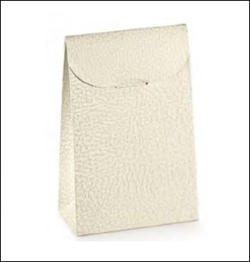Schachtel - Sacchetto - Dekor Pelle Bianco