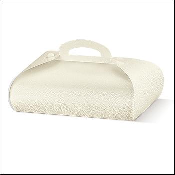 Schachtel - Tronchetto - Dekor Pelle Bianco