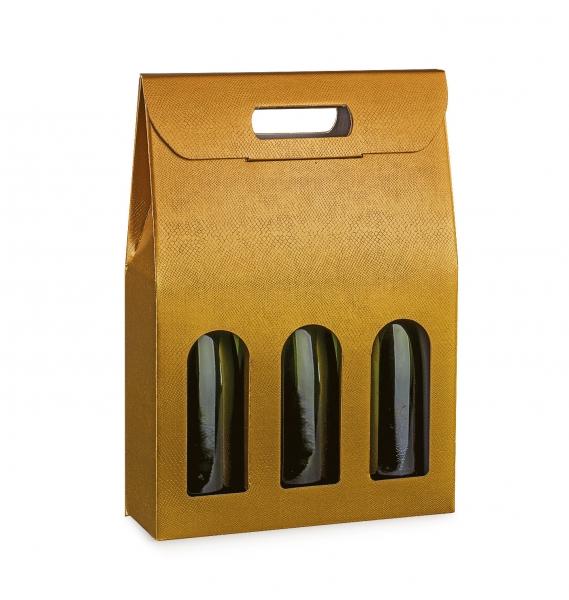 Weinverpackung für 3 Flaschen - SCATOLA 3 BOTT. (270x90x385 mm)