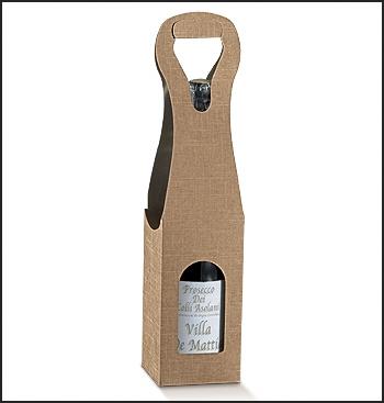 Weinverpackung für 1 Flasche mit Tragegriff - BAG NEW 1 BOTT. (90x90x410 mm)