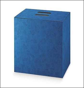 Geschenkverpackung - Cubotto - Dekor Tela Bluette