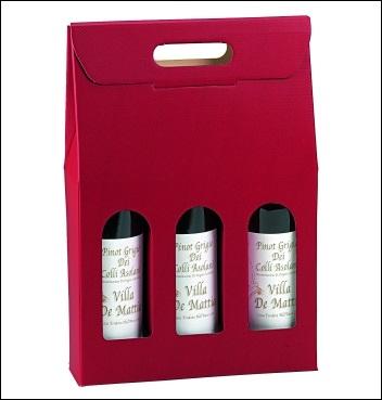 Flaschenkarton - Dekor Scia Bordeaux