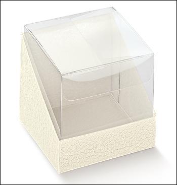 Schachtel - Duo - Dekor Pelle Bianco