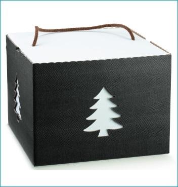 Schachtel mit Kordel - IN con cordino - Dekor Skin Coffee