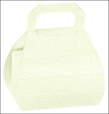 Schachtel Tasche - Borsa - Dekor Matelasse Bianco