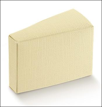 Schachtel Törtchen - Fetta Torta - Dekor Seta Avorio