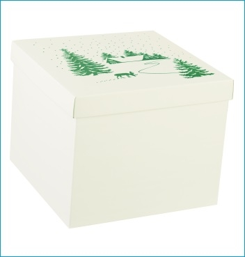 Schachtel mit Deckel - F/C-dp - Dekor Chalet