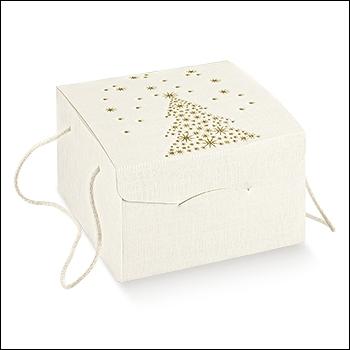 Schachtel mit Kordel - Segreto c/cordini - Dekor Golden Tree