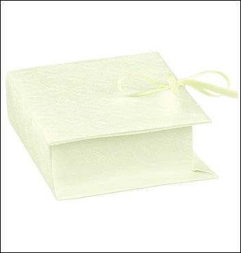 Schachtel - Book - Dekor Matelasse Bianco