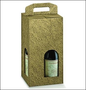 Flaschenkarton -Dekor Oro Nero