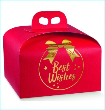 Geschenkverpackung - Portapanettone - Dekor Best Wishes