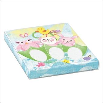 Schachtel mit transp. Schiebedeckel - 3 Confetti - Dekor Amici Rosa