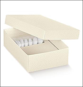 Schachtel - Combinata - Dekor Pelle Bianco