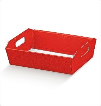 Presentkorb - Dekor Pelle Rosso