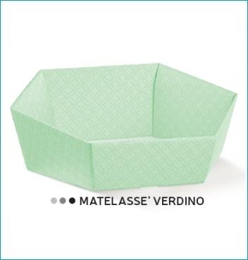 Presentkorb VASSOIO ESAGONO - Dekor Matelasse Verdino