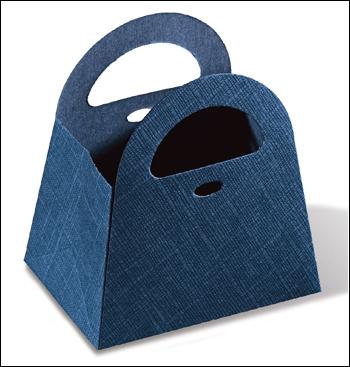 Schachtel - Sportina - Dekor Juta Blu