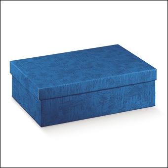 Schachtel mit Deckel - F/C-dp - Dekor Tela Bluette