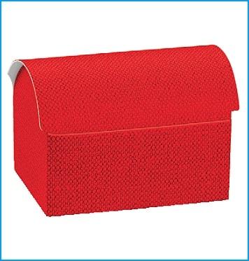 Schachtel Truhe - Cofanetto - Dekor Lino Rosso