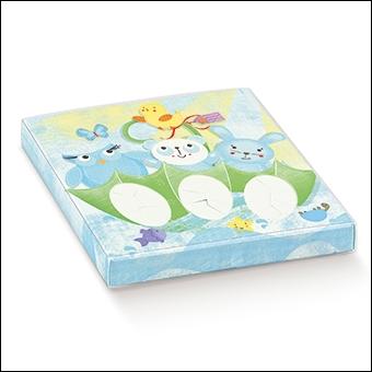 Schachtel mit transp. Schiebedeckel - 3 Confetti - Dekor Amici Celesti