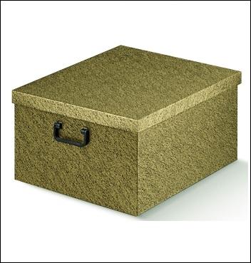 Ordnungsbox mit Plastikgriff - Dekor Oro Nero