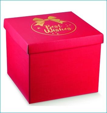 Schachtel mit Deckel - F/C-dp - Dekor Best Wishes