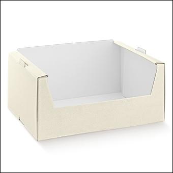 Schachtel - Cassetta - Dekor Pelle Bianco
