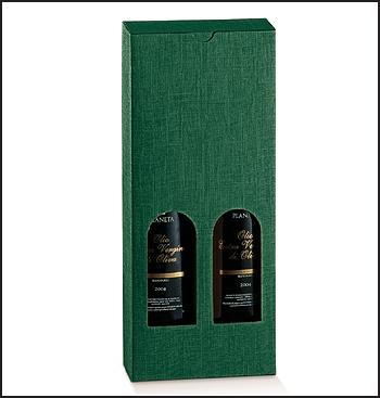 Flaschenkarton - Dekor Seta Verde