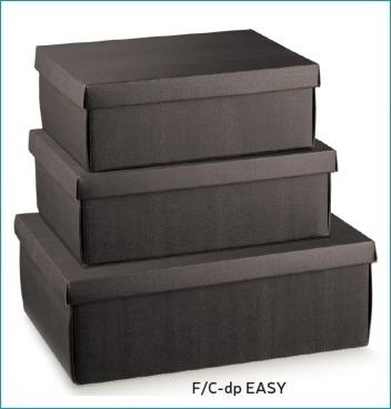 Schachtel mit Deckel - F/C-dp Easy - Dekor Skin Coffee