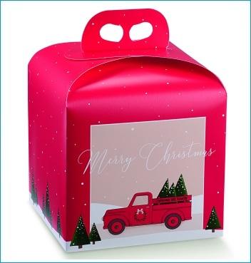 Geschenkverpackung - Portapanettone - Dekor Red Pick Up