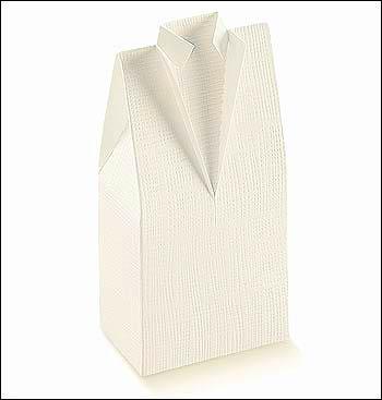 Schachtel - Camicia - Dekor Seta Bianco