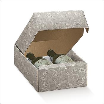 Flaschenkarton - Dekor Damascato Tortora