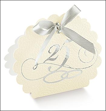 Schachtel Tasche Wolke - Borsa Rotonda 25 Jubiläum - Dekor Pelle Bianco