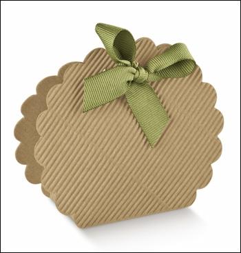 Schachtel Tasche Wolke - Borsa Rotonda - Dekor Onda Avana