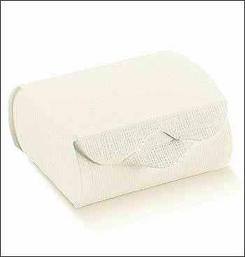 Schachtel - Couvette - Dekor Seta Bianco