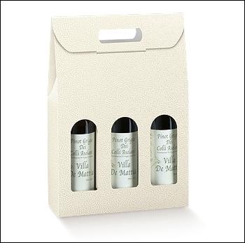 Flaschenkarton - Dekor Pelle Bianco