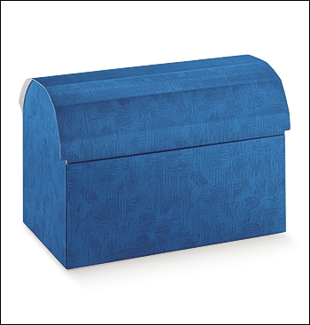 Schachtel Truhe - Cofanetto - Dekor Tela Bluette