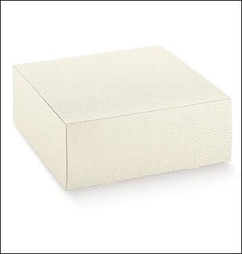 Schachtel - Pratica - Dekor Pelle Bianco