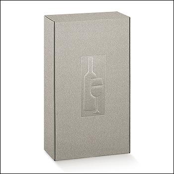 Flaschenkarton - Dekor Linea Tortora