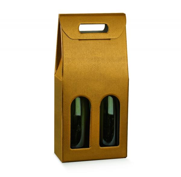 Flaschenverpackung, Präsentkarton für 2 Flaschen (Art.Nr. 38432)