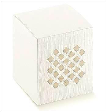 Schachtel - Traforata - Dekor Seta Bianco